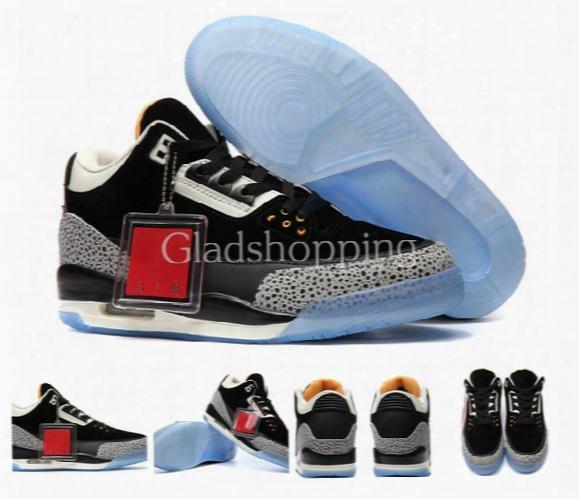 Atmos X Air Retro 3 Safari Basketball Shoes For Men, New High Quality Retros 3s Sports Shoes Sneakers Us 8-13