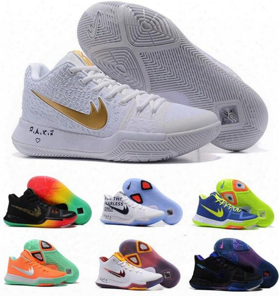 Cheap Kyrie 3 Basketball Shoes Men Women Orange Crossover Huarache Cavs Kyrie Irving 3s Iii Basketball Sports Shoes Replicas Sneakers Size 5