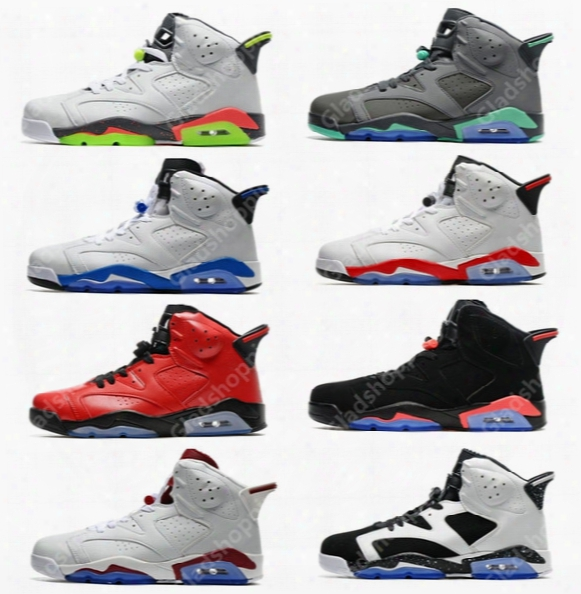 Cheap Retro 6 Hasta Green Glow Sport Blue Infrared Carmine Olympic Maroon Oreo Basketball Shoes Sneakers Women Men 6s Vi Sports Shoes