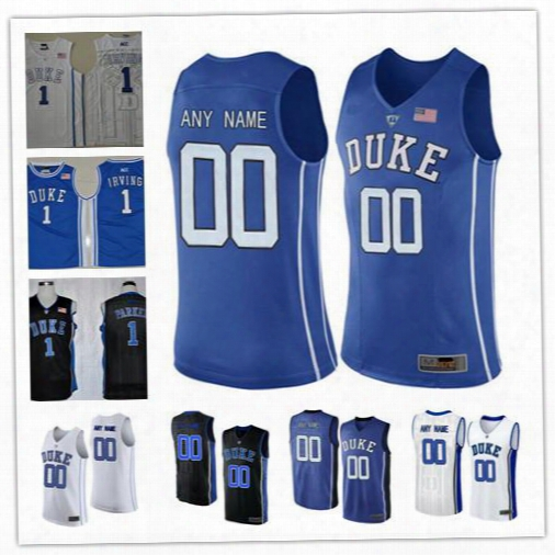 Custom Mens Duke Blue Devils College Basketball Black Royal Blue White Personalized Stitched Any Name Number #1 #4 #14 #15 #32 Jerseys S-3xl