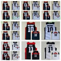 Dream Team 2017 Usa Jersey 5 Kevin Durant 6 Lebron James 11 Kevin Love 15 Carmelo Anthony 13 Chris Paul 8 Deron Williams 10 Kobe Bryant