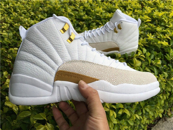 Drop Shipping Retro 12 Ovo White Not Real Carbon Fiber Men Basketball Spory Shoes Size 41-47 Ship With Box