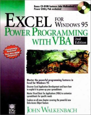 Excel For Windows 95 Power Programming With Vba