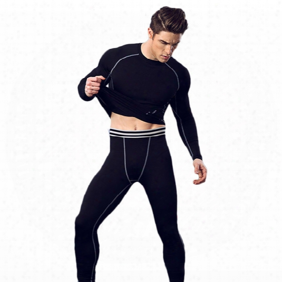 Fitness Men' S Basketball Running Training Pants Elastic Compression Fast-moving Sports Pants Nine Points