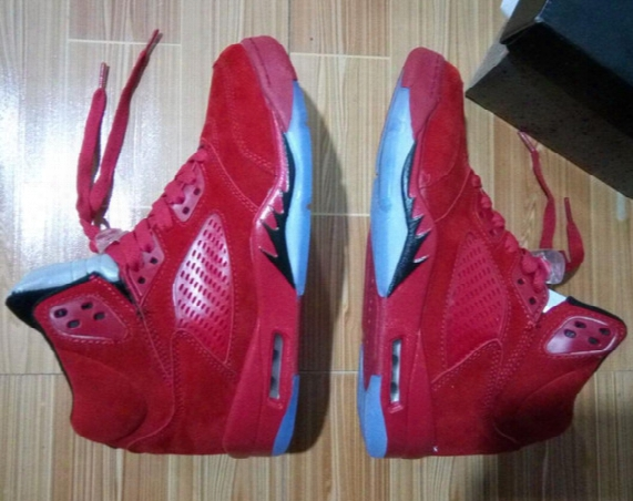 Flight Suit 5s Wholesale Retro 5 Raging Bull Red Suede Best Quality Basketball Shoes With Box Men Size Free Shipping