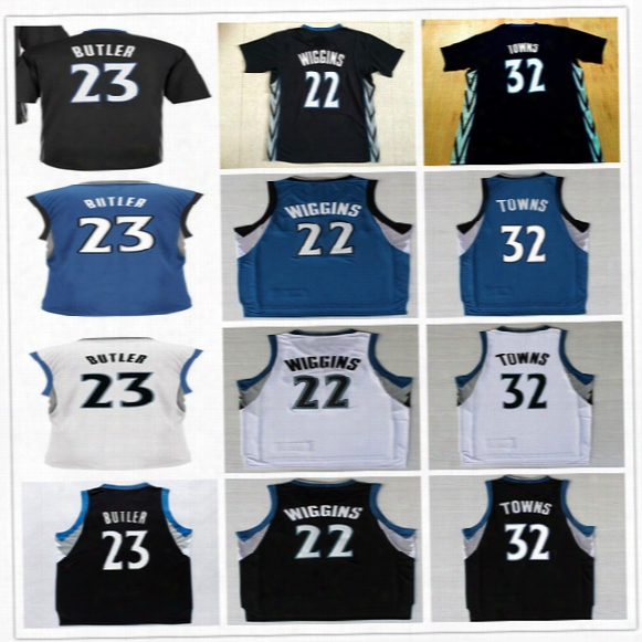 Free Fast Shipping Wholesale Cheap Mens #21 Jimmy Butler Jersey White New Black 22 Andrew Wiggins 32 Karl Anthony Towns Basketball Jerseys