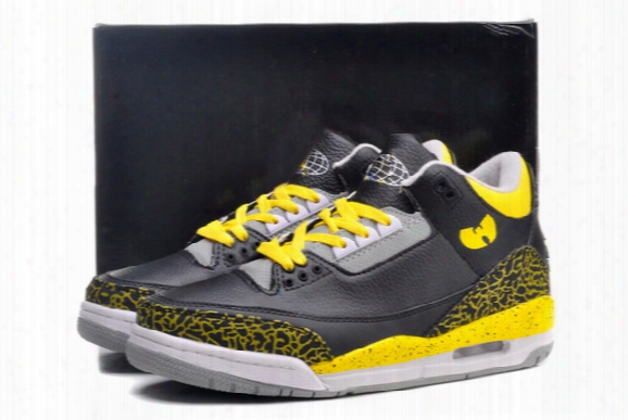 Free Shipping Men Athletic Retro 3 Wu Sneakwrs Iii Tang Basketball Shoes