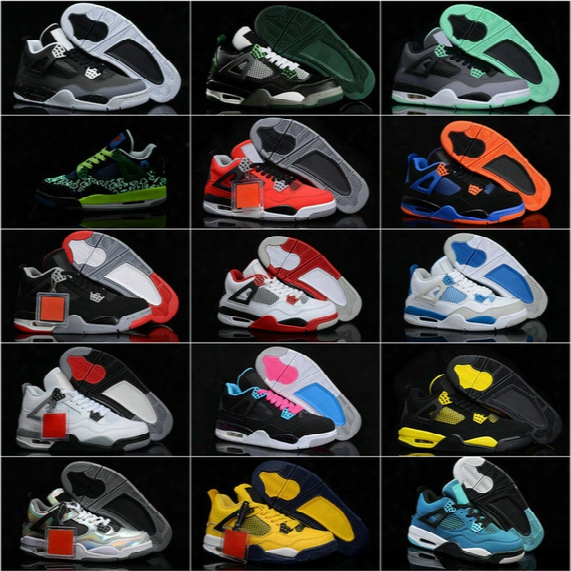 Free Shipping Top Quality Men's Air Retro 4 Athletic Basketball Shoes Wholesale Eur 41-47