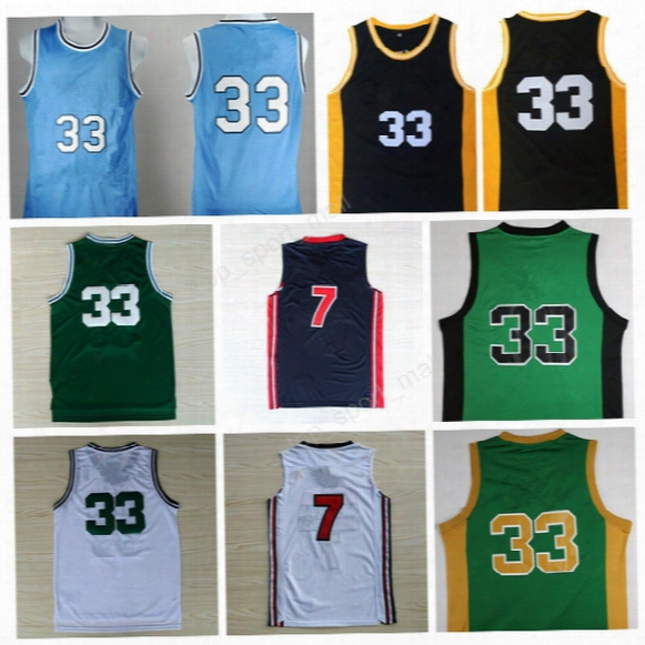 High Quality 33 Larry Fowl Jersey 1992 Usa Dream Team Indiana State Sycamores Basketball Larry Bird College Jerseys Sports With Player Name