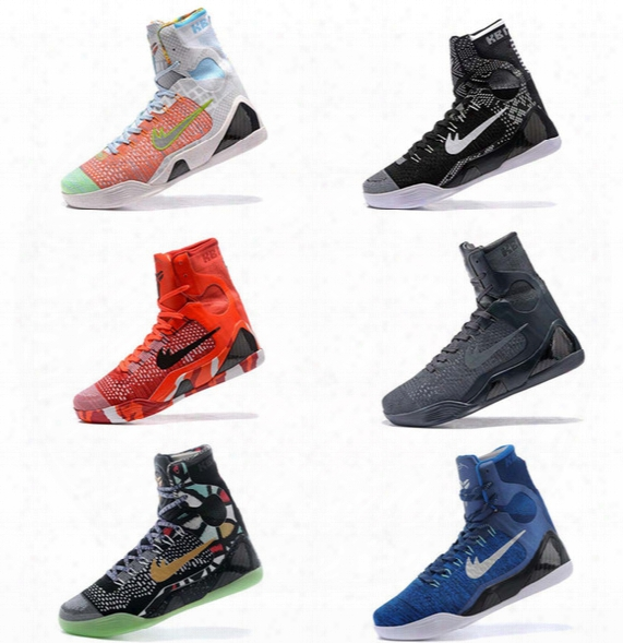 High Quality Kobe 9 Elite Black Mamba Blackout Bhm Replicas Christmas Men Basketball Shoes Kb 9 Ix High Sneakers With Box