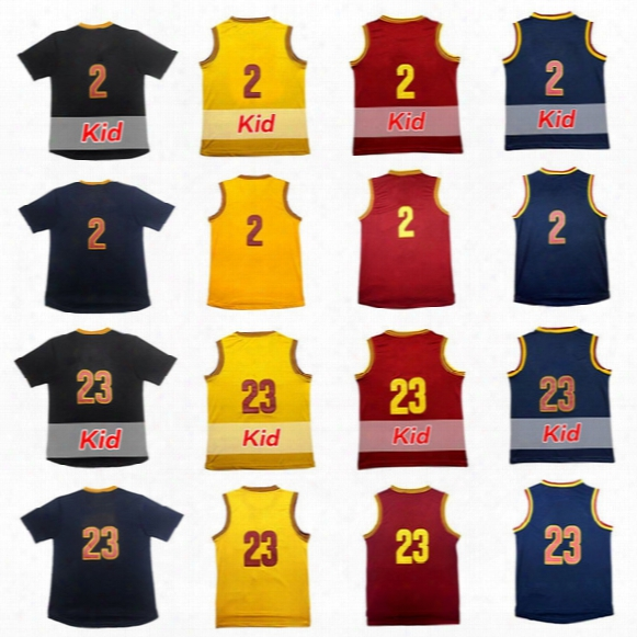 High-quality Men's 2 Kyrie Irving Basketball Jersey 23 Lebron James Adult Rev30 Kid's Youth Embroidery Logos 100% Stitched T-shirt