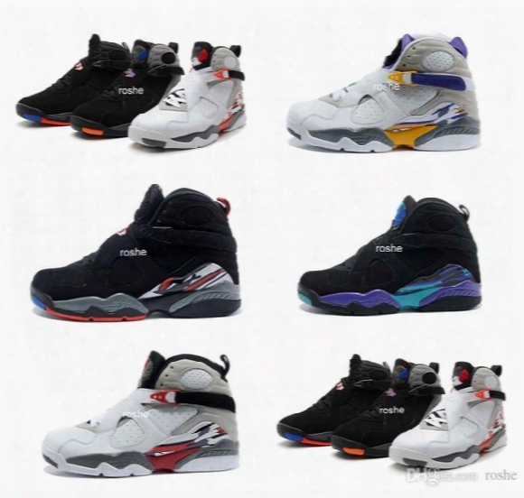 High Quality Retro 8 Viii Aqua Bugs Bunny Phoenix Playoffs Men Womens Basketball Shoes, Brand New Athletic Sport Sneakers Size Us 5.5-13
