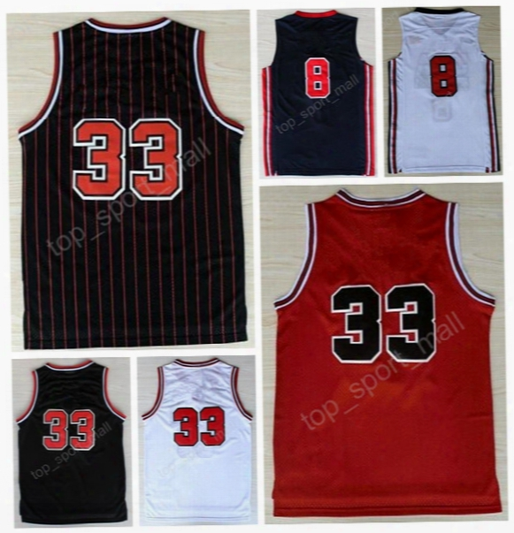 High Throwback 33 Scottie Pippen Jersey 1992 Usa Dream Team Basketball 8 Pippen Retro Jerseys Home Red Road White Navy Blue With Player Name