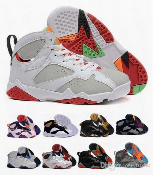 Hot Sale Retro 7 Marvin The Martian Hare Purple Bobcats Mens Womens Basketball Shoes, Brand New Retro 7 Vii Sneakers Eur 36-47