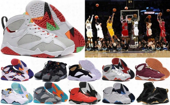 Hot Sale Retro 7 Vii 7s Basketball Shoes Women Men Sneakers Retros Shoes 7s Vii Authentic Air Sports Shoes Zapatos Mujer Free Delivery 5-13