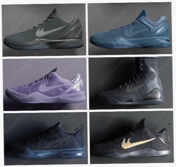 Kobe 6 7 8 9 10 11 Eiite Ftb Fade To Black Collection Kobe Bryant Black Mamba Pack Kobes Men Basketball Shoes Sneakers