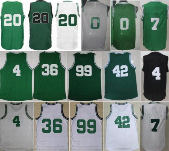 Men Basketball 0 Jayson Tatum Jersey 20 Gordon Hayward 4 Isaiah Thomas 36 Marcus Smart 7 Jaylen Brown 99 Jae Crowder With Player Name