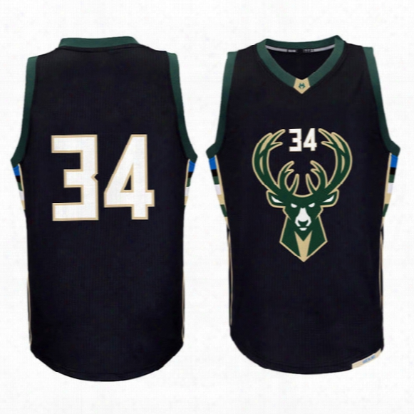 Men New 34# Giannis Antetokounmpo Jersey #12 Jabari Parker Basketball Jerseys High Quality Embroidery Logos Fast Free Shipping
