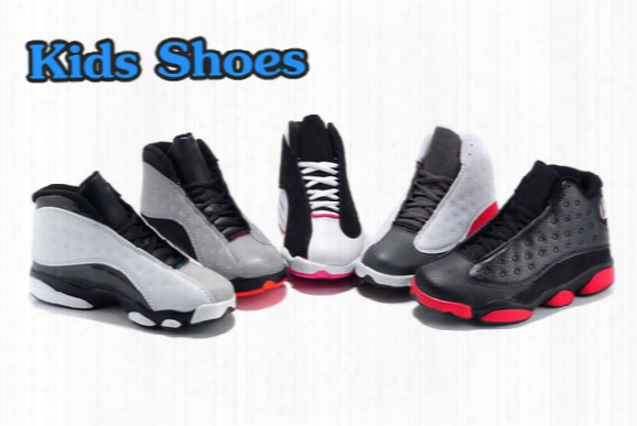 New 2016 Retro 13 Kids Basketball Shoes Children 13s High Quality Sports Shoes Youth Boy Girl Basketball Sneakers For Sale Us11c-3 Y Eu28-35