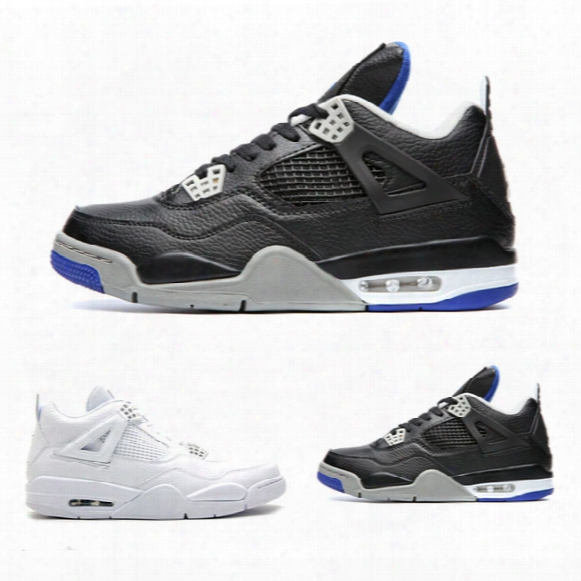 New Alternate Motorsport Retro Iv 4s Low Cut White 25th Anniversary Outdoor Athletic Footwear High Quality 4 Mens Basketball Shoes Sneaker