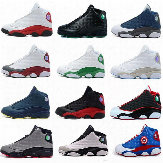 New Mens Womens Basketball Sboes Air Retro 13 Bred Black True Red Discount Sports Shoe Athletic Running Shoes Best Price Sneakers