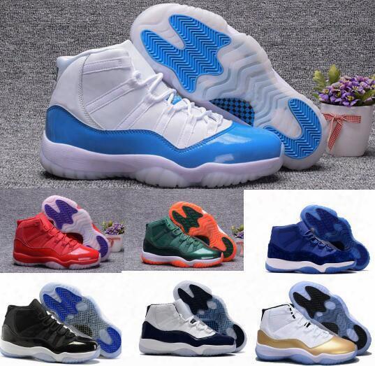 New Retro 11 Basketball Shoes Women Men Retros Space Jam 11s Xi 72 Bred Blue Velvet Heirrss Femme Athletics Original Sport Sneaker