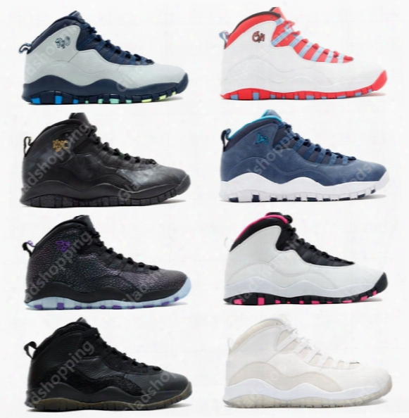Retro 10 Paris Nyc Chi Rio La Hornets City Pack Vivid Pink Ovo Men Women Basketball Shoes Sneakers 10s Retro X Sport Shoes