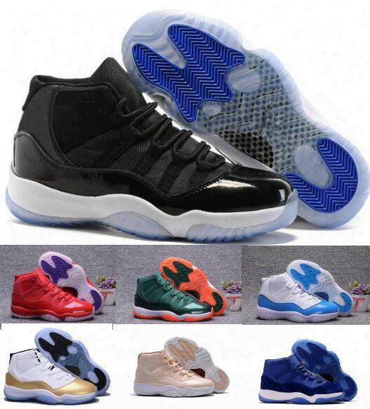 Retro 11 Basketball Shoes Men Women Retros Space Jam 11s Xi 72 Bred White Velvet Heiress Femme Homme Athletic Replica Sports Sneakers