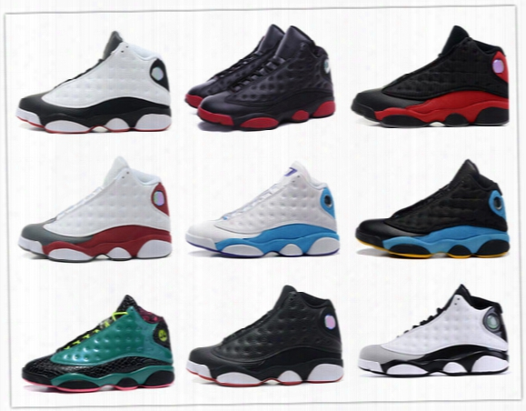 Retro 13 Basketball Shoes History Of Flight Hof Dmp Black Cat He Got Game Play Off Barons Sneakers Men Women Sports Shoes 2017