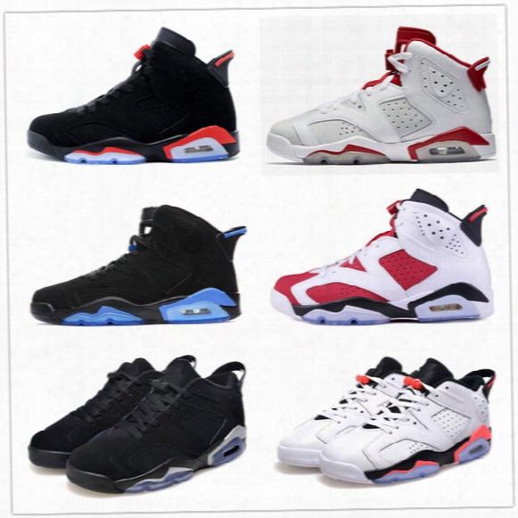 Retro 6 Black Blue White Infrared Low Chrome Basketball Shoes Women Men Sport Blue Carmine Red Oreo Alternate Oreo Black Cat