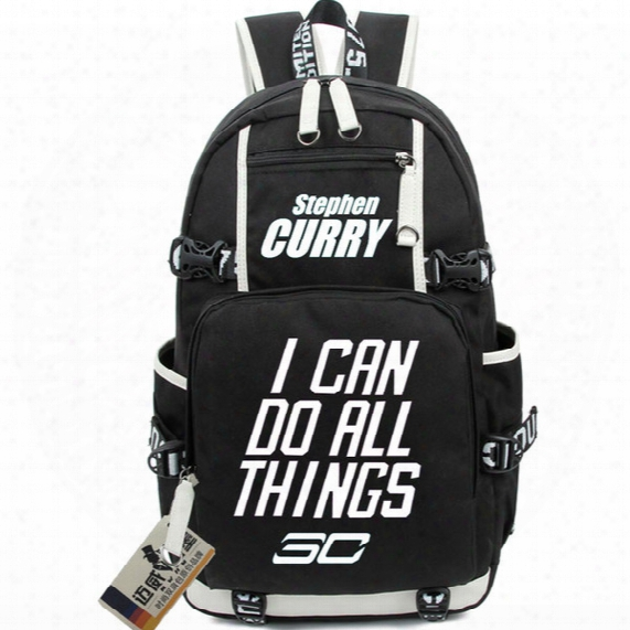 Stephen Curry Backpack Basketball School Bag Club Player Daypack Super Star Schoolbag Outdoor Rucksack Sport Day Pack