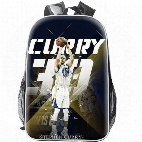 Stephen Curry Backpack Super Star  Day Pack Best Player Fans School Bag Basketball Rucksack Sport Schoolbag Outdoor Daypack