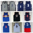 Men 3 Allen Iverson Jersey Basketball Georgetown Hoyas Allen Iverson College Jerseys Throwback Red Gray Blue White Black with player name
