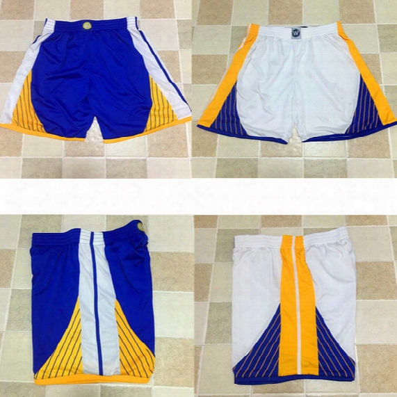 Top Quality Warriors Retro Running Shorts Men's Sport Training Shorts Jersey Team Shorts Loose Polyester Classi For Men Basketball Pants