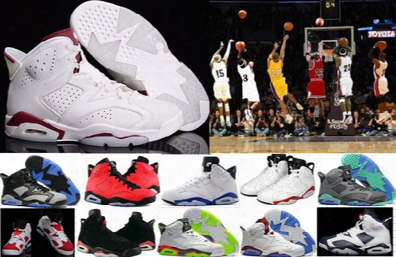 Wholesale 6 Vi Mens Basketball Shoes Retro Infrared 6s Sneakers Women Men 6 Vi Sport Basketball Shoes Gs Valentine's Day Shoes 4-5-10-12-13