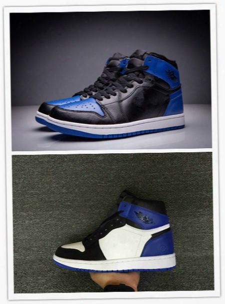 Wholesale High Quality New Air Retro 1 Og Royal Blue Black Men Basketball Shoes Retro 1 Fragment X Sports Trainers Sneakers Size 7-13