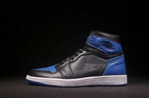 Wholesale New Air Retro 1 I Og Royal Blue Black Men Basketball Shoes Sports Sneakers Trainers High Top Quality Size 7-13