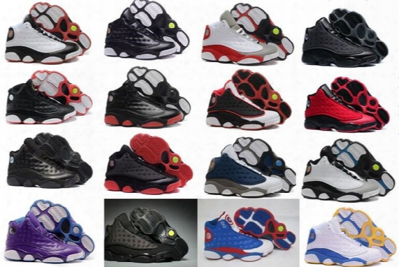 Wholesale New Air Retro 13  Xiii Men Basketball Shoes Women Bred Navy Game Home Grey Toe Flint Grey Sports Sneakers Boots Size 36-47