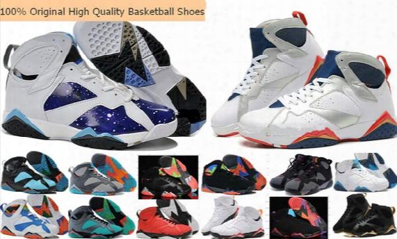 Wholesale Retro 4-6-7-9-10-11-12-13 Woman Men Basketball Shoes Sneakers 100% Original Retro 7 Vii 7s Basketball Shoes Cheap 7s Sports Shoes