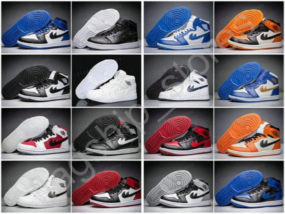 With Box High Quality Retro 1 Mid Basketball Shoes Mens Retros Og Chicago Gym Red Sports Shoes Bred Barons Breathable Sneakers Us8-13