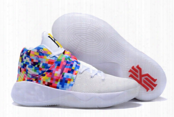 (with Original Box)free Shipping Kyrie 2 Rainbow Mens Basketball Shoes Sports Sneakers