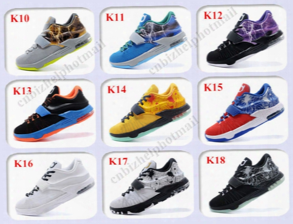 2015 New Kevin Durant Kd 7 Basketball Shoes Men Kds 7 Vii The Thor Mens Basketball Shoes Size 7-12