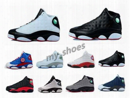 2016 High Quaility Shoes Air Retro 13 Xiii Mens Basketball Shoes Bred Navy Athletics Sport Sneaker Boots