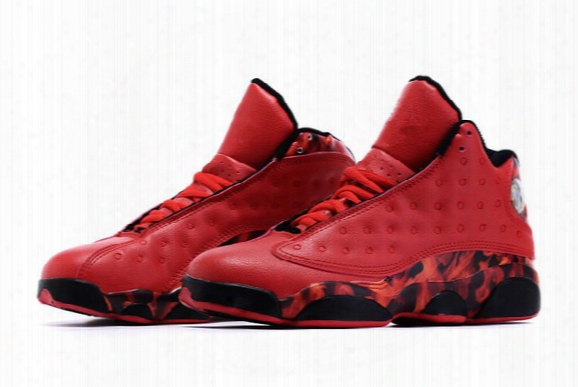 2016 High Quality Retro 13 Xiii Ray Allen-heat University Red Gym Red Men Basketball Sport Trainer Shoes Men's Sneakers Size 41-46