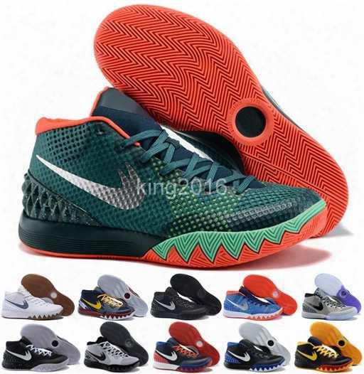 2016 Kyrie Irving Mens Basketball Shoes Kyrie 1 Men Retro Dream Deceptvie Red Christmas Basketball Outdoor Sneakers High Quality Size 7-12