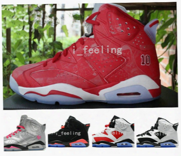 2016 New Mens Air Dan Retro 6 Xi Basketball Shoes Men Women Low Athletic Sport Shoes Retros 6s Infrared Retro Sneakers Red Size 36-47