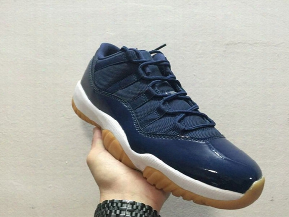 2016 New Mens Basketball Shoes 11 Low Navy Gum Blue Sports Shoes 11s Retro Sneakers For Women Men Us 5.5~13