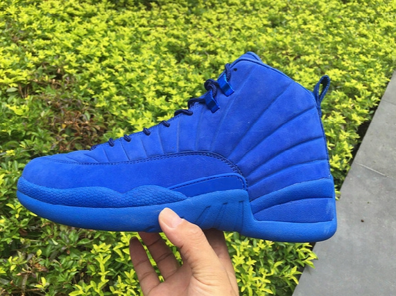 2016 New Retro 12 Xii Psny Blue Suede All Public School Retro 12s Men Basketball Shoes Sports Sneakers Top Quality Size Us 8-113