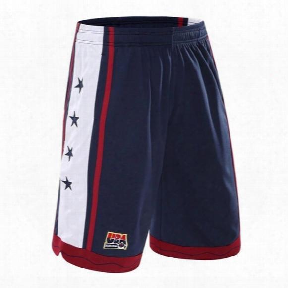 2016 New Usa Basketball Shorts Men Running Shorts Summer Beach Sport Shorts For Men 3 Color Plus Size