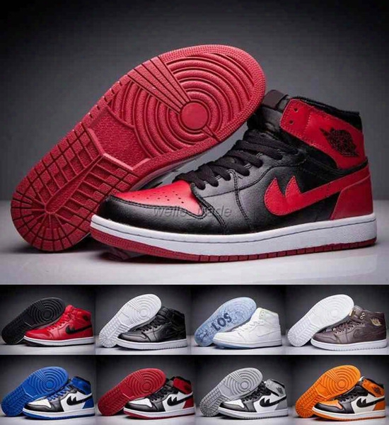 2016 Retro 1 Mens Basketball Shoes Black Red High Quality Sneakers Retros 1s Casual Shoes Athletics Zapatillas Deportivas Sports Shoes